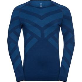 Odlo Natural + Kinship Warm Koszulka z długim rękawem Mężczyźni, estate blue melange